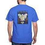 Blue & Gold Cancer Angel Dark T-Shirt