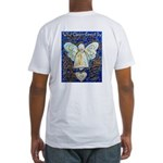 Blue & Gold Cancer Angel Fitted T-Shirt