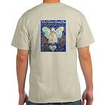Blue & Gold Cancer Angel Light T-Shirt