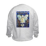 Blue & Gold Cancer Angel Kids Sweatshirt