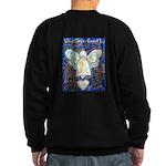 Blue & Gold Cancer Angel Sweatshirt (dark)