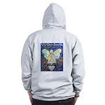 Blue & Gold Cancer Angel Zip Hoodie