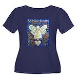 Blue & G Women's Plus Size Scoop Neck Dark T-Shirt