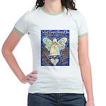 Blue & Gold Cancer Angel Jr. Ringer T-Shirt
