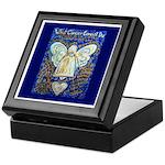 Blue & Gold Cancer Angel Keepsake Box