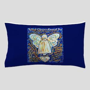 Blue & Gold Cancer Angel Pillow Case