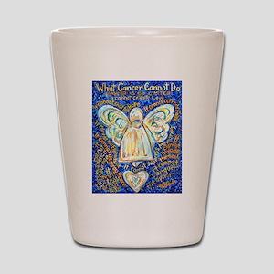 Blue & Gold Cancer Angel Shot Glass