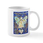 Blue & Gold Cancer Angel Mug