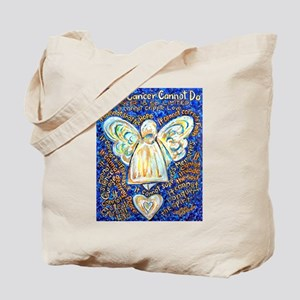 Blue & Gold Cancer Angel Tote Bag