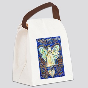 Blue & Gold Cancer Angel Canvas Lunch Bag