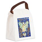 Blue & Gold Cancer Angel Canvas Lunch Bag