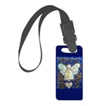 Blue & Gold Cancer Angel Small Luggage Tag
