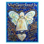 Blue & Gold Cancer Angel Small Poster