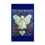 Blue & Gold Cancer Angel 35x21 Wall Decal