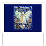 Blue & Gold Cancer Angel Yard Sign
