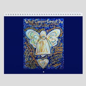 Blue & Gold Cancer Angel Wall Calendar