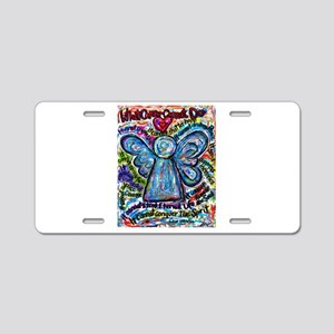 Colorful Cancer Angel Aluminum License Plate