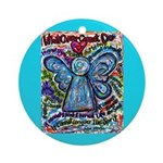 Colorful Cancer Angel Ornament (Round)
