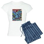 Colorful Cancer Angel Women's Light Pajamas