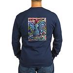 Colorful Cancer Angel Long Sleeve Dark T-Shirt