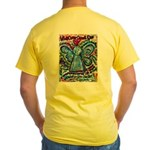Colorful Cancer Angel Yellow T-Shirt