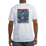 Colorful Cancer Angel Fitted T-Shirt