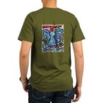 Colorful Cancer Angel Organic Men's T-Shirt (dark)