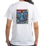 Colorful Cancer Angel White T-Shirt