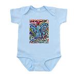 Colorful Cancer Angel Infant Bodysuit