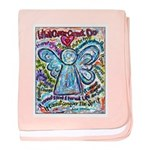 Colorful Cancer Angel baby blanket