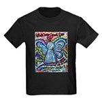 Colorful Cancer Angel Kids Dark T-Shirt