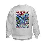 Colorful Cancer Angel Kids Sweatshirt