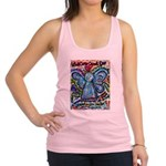 Colorful Cancer Angel Racerback Tank Top