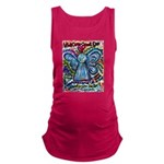 Colorful Cancer Angel Maternity Tank Top