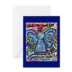 Colorful Cancer Angel Greeting Card