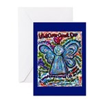 Colorful Cancer Angel Greeting Cards (Pk of 10)