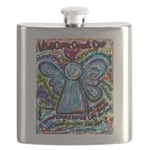 Colorful Cancer Angel Flask