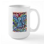 Colorful Cancer Angel Large Mug