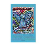 Colorful Cancer Angel Mini Poster Print