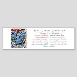Colorful Cancer Angel Sticker (Bumper)