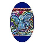 Colorful Cancer Angel Sticker (Oval 50 pk)