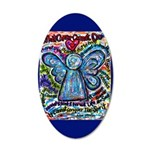 Colorful Cancer Angel 20x12 Oval Wall Decal