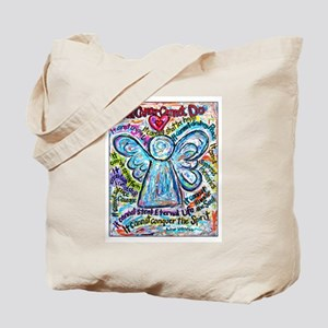 Colorful Cancer Angel Tote Bag