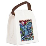 Colorful Cancer Angel Canvas Lunch Bag
