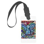 Colorful Cancer Angel Large Luggage Tag