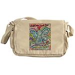 Colorful Cancer Angel Messenger Bag