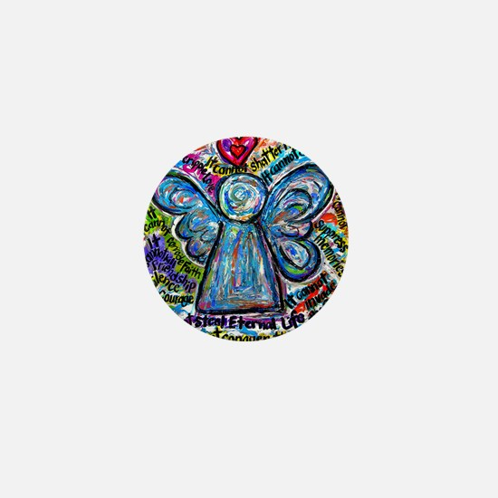 Colorful Cancer Angel Mini Button