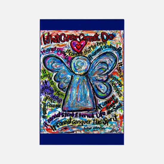 Colorful Cancer Angel Rectangle Magnet