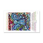 Colorful Cancer Angel Car Magnet 20 x 12