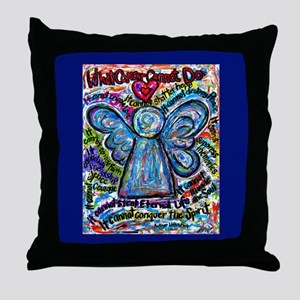 Colorful Cancer Angel Throw Pillow
